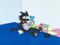 Animation Art:Production Cel, The Simpsons Itchy & Scratchy Production Cel (Fox,1993)....