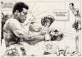 Bruce Stark Muhammad Ali vs. Jerry Quarry Sports Comic Strip Original Art (New Y Comic Art