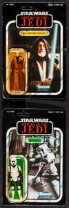 "Movie Posters:Science Fiction, Return of the Jedi (Kenner, 1983 & 1984). Action Figures (2)(1.5"" X 3.75"", 4"") on Cards (6"" X 9"") ""Biker Scout"" & ""Ben(Obi... (Total: 2 Items)"