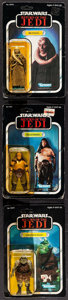 """Movie Posters:Science Fiction, Return of the Jedi (Kenner, 1983). Action Figures (3) (Approximately 2"""" X 4"""") on 77 Back Cards (6"""" X 9"""") """"Bib Fortuna,"""" """"Gam... (Total: 3 Items)"""