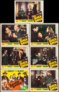 """Movie Posters:Mystery, The Black Raven (PRC, 1943). Title Lobby Card & Lobby Cards (6)(11"""" X 14""""). Mystery.. ... (Total: 7 Items)"""
