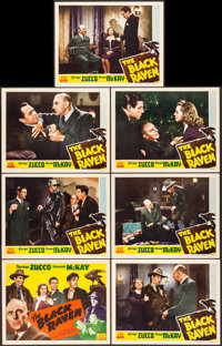 """The Black Raven (PRC, 1943). Title Lobby Card & Lobby Cards (6) (11"""" X 14""""). Mystery. ... (Total: 7 It..."""