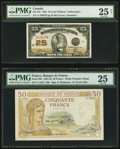 Canadian Currency, DC-24c 25 Cents 1923;. France Banque De France 50 Francs 8.2.1940Pick 85b.. ... (Total: 2 notes)