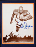 Autographs:Photos, Gale Sayers Signed Display.. ...
