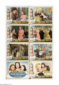 """Movie Posters:Comedy, 3 Smart Girls Grow Up (Universal, 1939). Lobby Card Set of 8 (11"""" X 14""""). Offered here is a vintage, theater-used lobby card... (8 items)"""