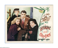 """Arsenic and Old Lace (Warner Brothers, 1944). Lobby Card (11"""" X 14""""). Offered here is a vintage, theater-used..."""