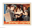 """Movie Posters:Musical, Broadway to Hollywood (MGM, 1933). Lobby Card (11"""" X 14""""). Offered here is a vintage, theater-used lobby card for this music..."""
