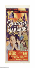 "Movie Posters:War, Journey for Margaret (MGM, 1942). Australian Daybill (13"" X 30"").Offered here is a vintage, theater-used poster for this dr..."