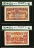 World Currency, China Hong Kong and Shanghai Banking Corporation Hankow 50 Dollars ND (1921) Pick S338pp Face and Back Uniface Progressive P... (Total: 2 notes)