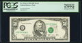 Error Notes:Shifted Third Printing, Shifted Third Printing Error Fr. 2124-G $50 1990 Federal Reserve Note. PCGS Superb Gem New 67PPQ.. ...