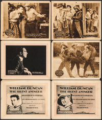 """The Silent Avenger & Other Lot (Vitagraph, 1920). Title Lobby Cards (2), & Lobby Cards (4) (11"""" X 14"""")..."""