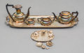 Silver & Vertu:Smalls & Jewelry, A Five-Piece Chick & Sons Ltd. Silver Miniature Tea Set with Nine-Piece Silver and Silver-Plated Set, circa 1978. Marks: (li... (Total: 14 Items)