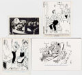 Charles Phil Bissell and Others - Editorial Comic-Strip Panels Original Art Grou Comic Art