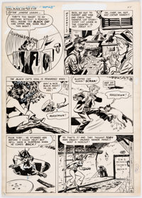 Lee Elias Black Cat #8 Partial Story Pages 6-9 Original Art (Harvey, 1947).... (Total: 4 Original Art)