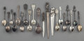 Decorative Arts, Continental:Other , Twenty Various Napoleonic-Themed Silver and Silver-Plated SouvenirSpoons and Letter Knives, late 19th century and later. Ma...(Total: 20 Items)