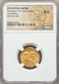 Ancients:Byzantine, Ancients: Heraclius (AD 610-641) and Heraclius Constantine. AVsolidus. NGC AU....