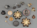 Decorative Arts, French:Other , Sixteen Various Napoleonic Jewelry Items. Marks: (various). 2-1/4inches diameter (5.7 cm) (largest, brooch). PROPERTY FRO... (Total:16 Items)
