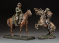 Decorative Arts, Continental, Two Polychromed Sculptures of Napoleon on Horseback, 20th century.12-5/8 inches high (32.1 cm) (taller). PROPERTY FROM TH... (Total:2 Items)