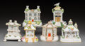 Ceramics & Porcelain, A Group of Six Staffordshire and Coalport Pastille Burners, England, 19th/20th century. 5-1/4 inches high (13.3 cm) (tallest... (Total: 6 Items)