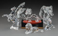 Decorative Arts, Continental, Six Swarovski Crystal Animals with Collector's Stand in OriginalBoxes, Austria, late 20th century. Marks: (logotype). 6 inc...(Total: 7 Items)