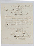 Military & Patriotic:Indian Wars, George Armstrong Custer: A Fine 7th Cavalry Signed Letter Regarding Indian Scouts....