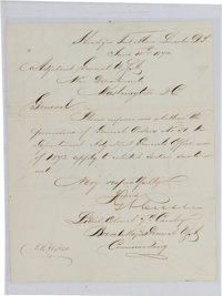 George Armstrong Custer: A Fine 7th Cavalry Signed Letter Regarding Indian Scouts