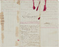 Military & Patriotic:Indian Wars, George Armstrong Custer: An Interesting 1868 7th Cavalry Document with a Great, Large, Bold Custer Signature. ...