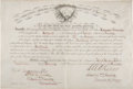Military & Patriotic:Indian Wars, Ferdinand Culbertson: His Official February 1876 Promotion to the Rank of Sergeant, Signed by Reno and Cooke. ...
