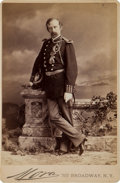 Military & Patriotic:Indian Wars, George Armstrong Custer: A Fine Mora Cabinet Photo of Custer in His 7th Cavalry Uniform. ...
