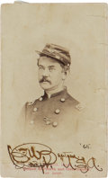 Military & Patriotic:Indian Wars, Frederick Benteen: An Important Twice-Signed Carte de Visite Photo....
