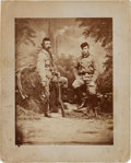 Military & Patriotic:Indian Wars, George Armstrong Custer: One of the Most Famous Images of Custer,Posed with Russian Grand Duke Alexis. ...