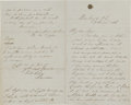 Military & Patriotic:Indian Wars, Myles Keogh: Autograph Letter Signed to his Brother Sam, Boasting of His Appointment to the Regular Army, October 27, 1866...