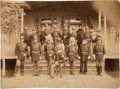 Military & Patriotic:Indian Wars, Fort Yates, 1878: Terrific Photograph of the Officers in Full Dress, All Identified by Capt. Thomas McDougall....