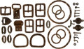 Military & Patriotic:Indian Wars, John Sivertsen: A Large Assortment of Metal Buckles and other Parts Fitted to Saddle, Bridle, etc....