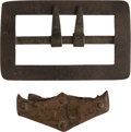 Military & Patriotic:Indian Wars, Little Bighorn Battlefield Artifacts: The Metal Parts from a Trooper's Carbine Sling. ... (Total: 2 Items)