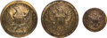 Military & Patriotic:Indian Wars, Three Officer's Staff Buttons Found on the Reno Battlefield. ...