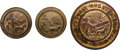 Military & Patriotic:Indian Wars, Three Rare Brass Indian Reservation Buttons Found at Little Bighorn. ...