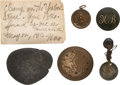 Military & Patriotic:Indian Wars, Five Artifacts Found at the Little Bighorn Site in 1913. ...