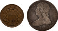 Military & Patriotic:Indian Wars, Two U.S. Coins Found on the Reno Battlefield. ... (Total: 2 Items)
