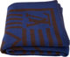 "Louis Vuitton Wool and Cashmere Black and Blue Karakoram Blanket Condition: 1 58"" Width x 54"" Length This Loui..."