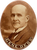 Political:Pinback Buttons (1896-present), Eugene V. Debs: Oval Real Photo Button from 1912....