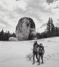 Photographs, Jerry Uelsmann (American, b. 1934). Untitled (Apes and stone), 1997. Gelatin silver. 11-3/4 x 10-3/8 inches (29.8 x 26.4...