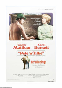 """Pete 'n' Tillie (Universal, 1972). One Sheet (27"""" X 41""""). Offered here is a vintage, theater-used poster for t..."""