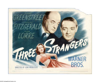 """Three Strangers (Warner Brothers, 1946). Lobby Cards (3) (11"""" X 14""""). Offered here are vintage, theater-used l..."""