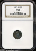 Proof Seated Half Dimes: , 1873 H10C PR 65 NGC. ...