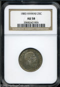 Coins of Hawaii: , 1883 25C Hawaii Quarter AU58 NGC. ...