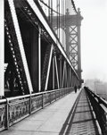 Photographs, Berenice Abbott (American, 1898-1991). Manhattan Bridge, 1936. Gelatin silver, 1979. 19-1/2 x 15-1/2 inches (49.5 x 39.4...
