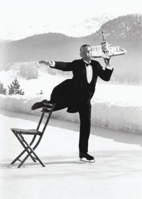 Alfred Eisenstaedt (American, 1898-1995) Ice Skating Waiter, 1932 Gelatin silver, printed later 1