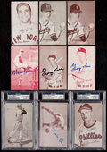 Autographs:Sports Cards, Signed 1947-80 Exhibits Baseball Collection (22)....