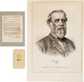 Militaria:Ephemera, General Robert E. Lee: Carte de Visite, Currier & Ives Engraved Portrait and a Copy of General Orders No. 3 Appoin... (Total: 3 )